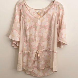 Leifsdottir Pink Floral Silk Blouse